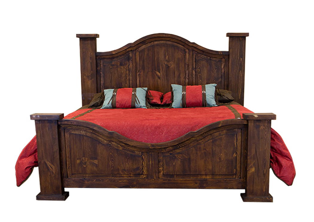 Curved Medio Queen Poster Bed,L.M.T. Rustic