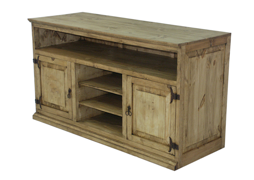 "Pine 60"" Entertainment Centre,L.M.T. Rustic"