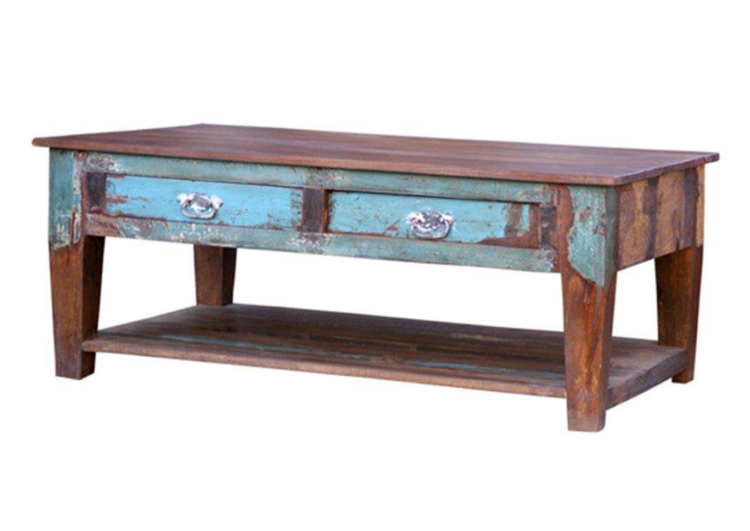 Painted Reclaimed Wood 2 Drawer Under, Reclaimed Wood Furniture Philadelphia