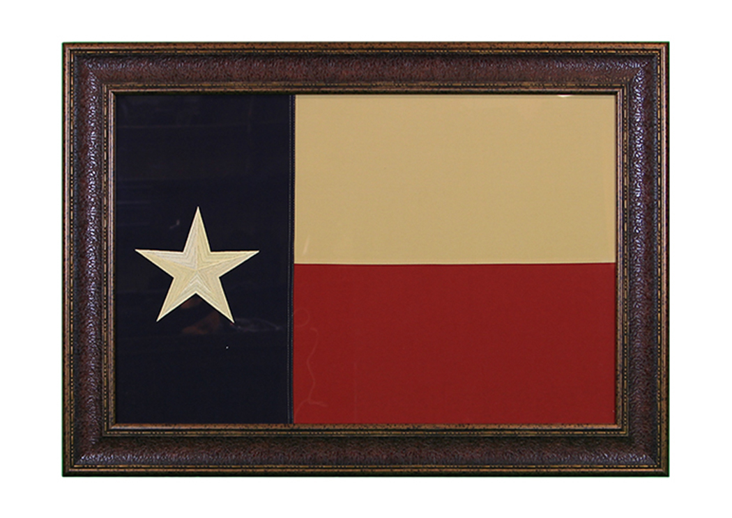 Large Texas Flag Framed,L.M.T. Rustic