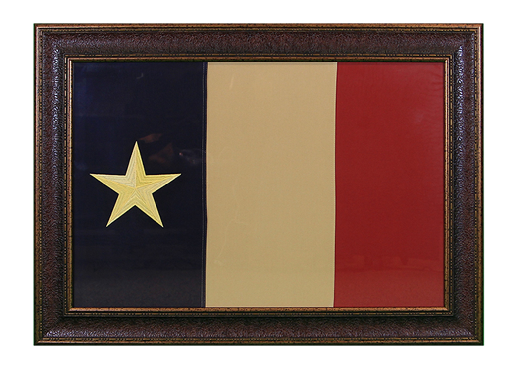 "Large ""Dobson"" Flag Framed,L.M.T. Rustic"