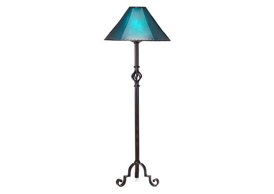 Iron Floor Lamp (No Shade),L.M.T. Rustic