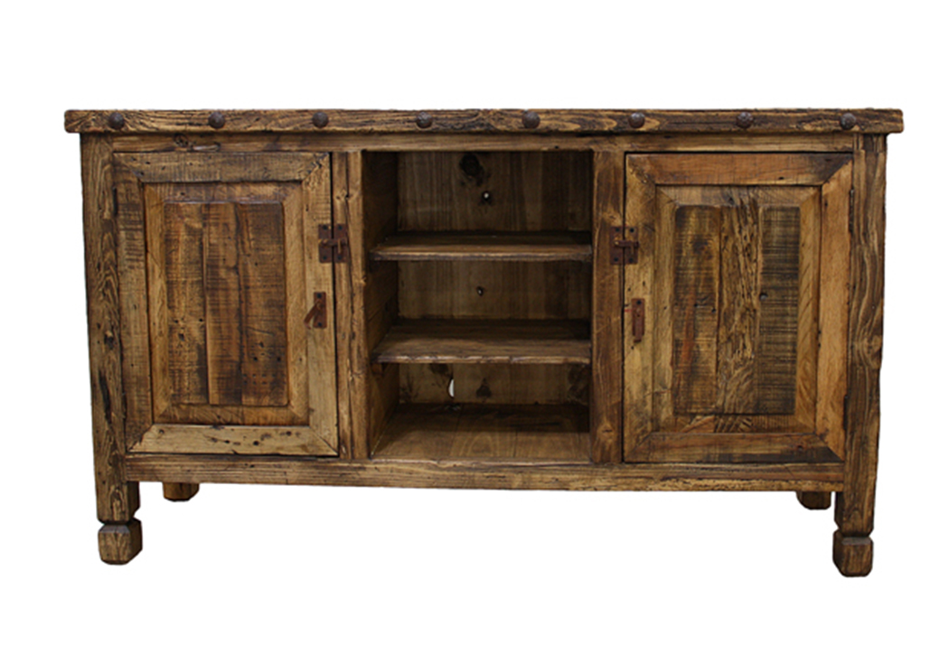 Colored Wood Natural TV Stand,L.M.T. Rustic