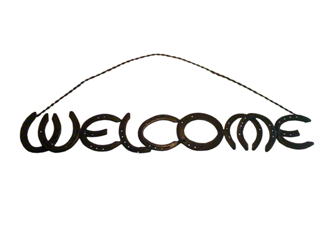 Horseshoe Welcome Sign,L.M.T. Rustic