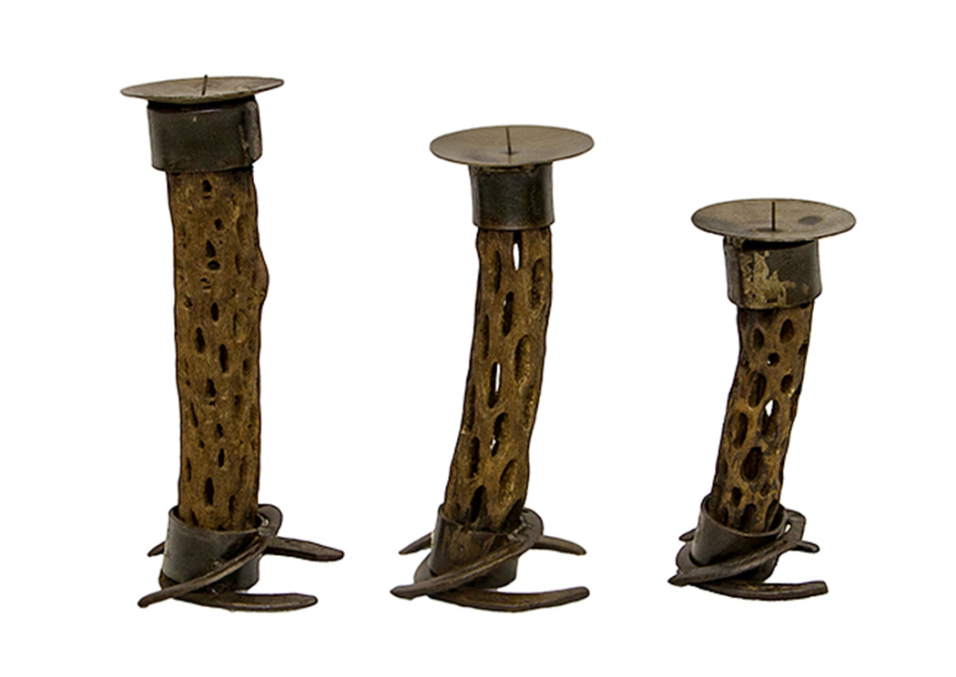 3 Piece Candle Holder,L.M.T. Rustic