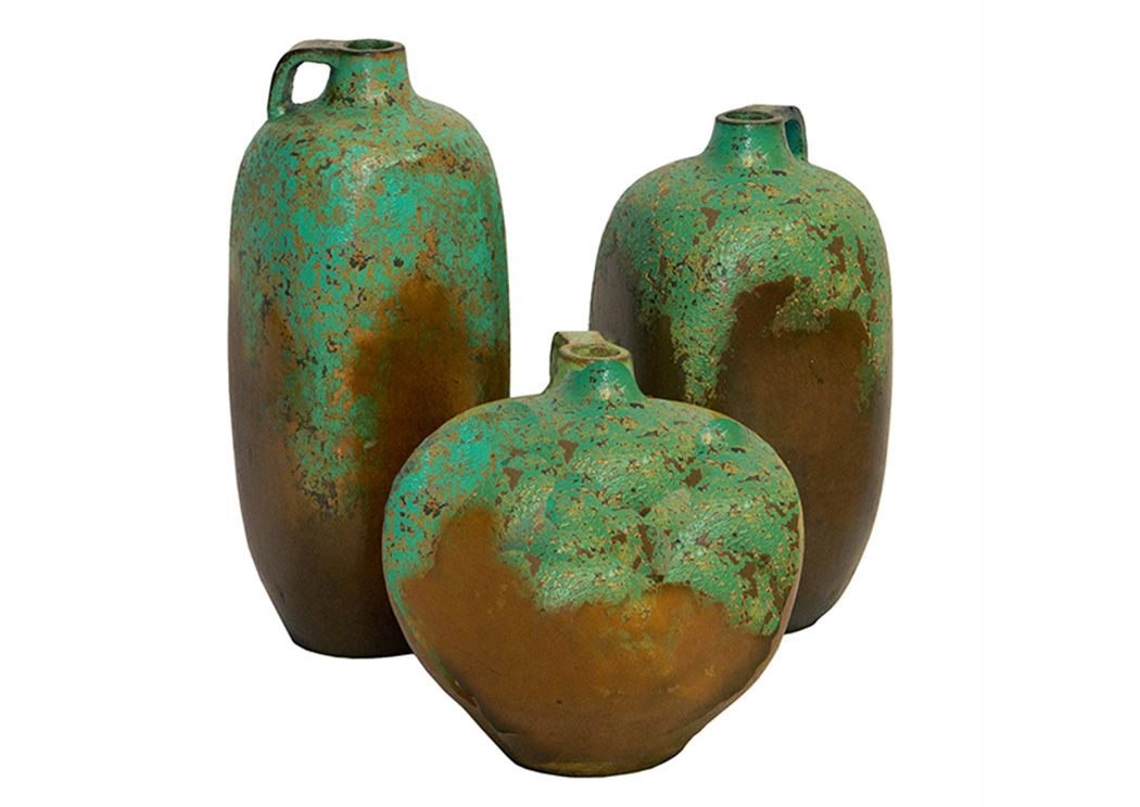 3 Piece Jarra Hulk Pot Set,L.M.T. Rustic