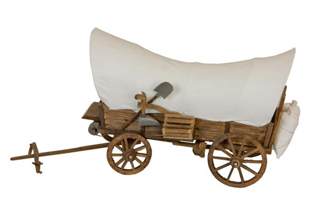 Miniature Covered Wagon,L.M.T. Rustic