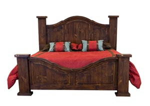 Curved Medio Queen Poster Bed