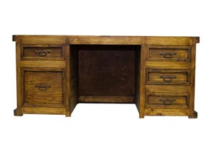 Image for Laguna Recycled Wood Desk w/3 Reclaimed Wood Panels