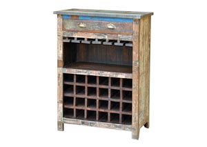 Image for Reclaimed Painted Wood Wine Cabinet