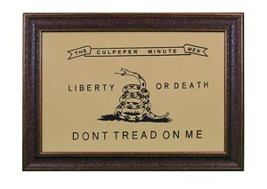 "Large ""Culpeper"" Flag Framed"