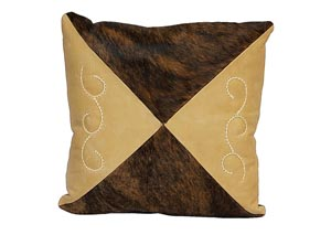 Square Cowhide & Leather Cushion