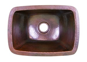 Dark Brown Rectangle Bar Sink
