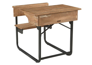Image for Schoolhouse Salvage Finish Desk w/Carbon Base