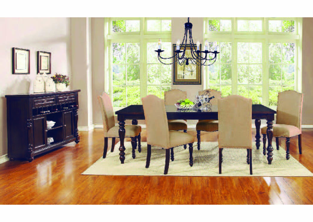 "Epoque Dark Walnut 5-Pc 72"" x 40"" Dining Set,Mainline"