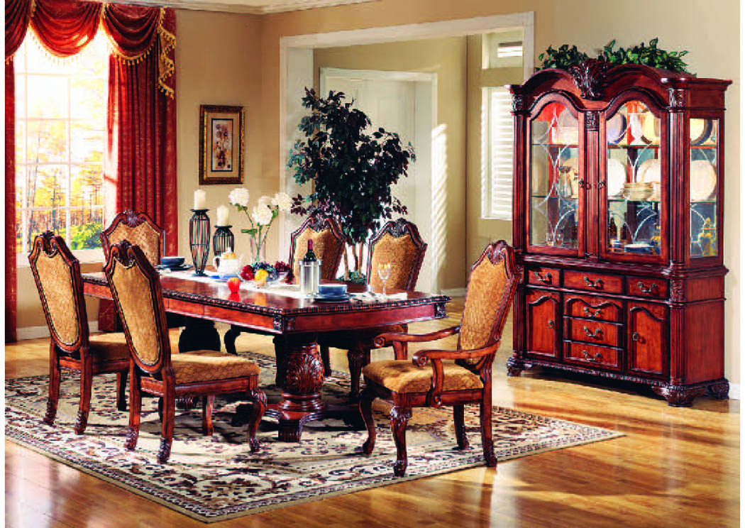 "Venezia Cherry 7-Pc Dining Set (96"" x 46""),Mainline"