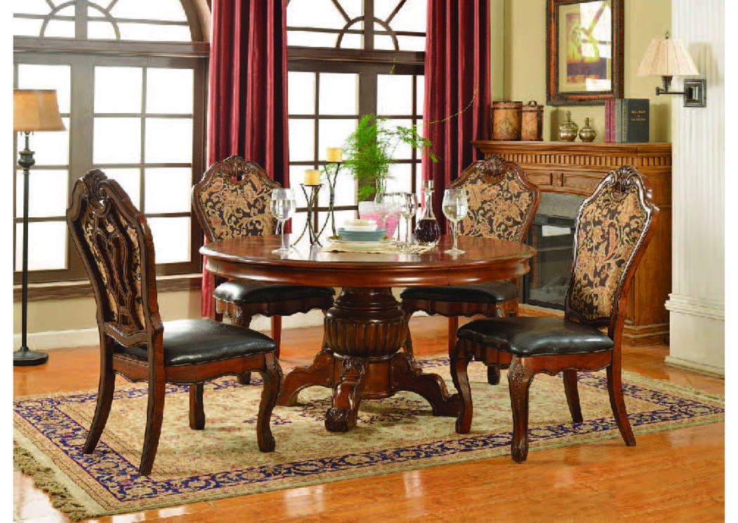 "Luxembourg Warm Cherry 60"" Round Dining Table,Mainline"