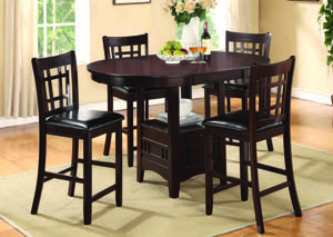 Andante Espresso 5-Pc Counter Set w/PU Chairs