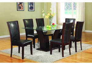 "Enclave 5-Pc 72"" Dining Set w/Dark Espresso Chairs"