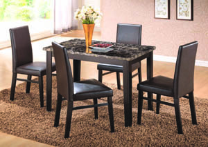 "Market St. Ebony 5-Pc Dining Set (48""x30 )"