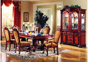 "Venezia Cherry 7-Pc Dining Set (96"" x 46"")"