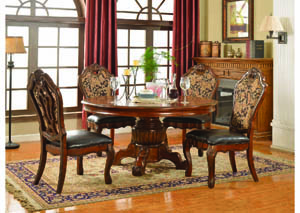 "Luxembourg Warm Cherry 60"" Round Dining Table"