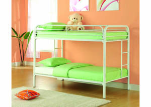Image for Twin/Twin White Metal Bunkbed