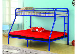 Image for Twin/Full Blue Metal Bunkbed