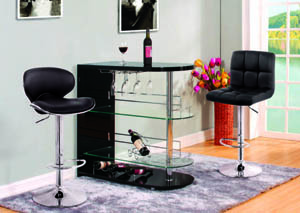 "Image for Odeon Black & Chrome Bar Stand (42"" x 18"" x 41"")"