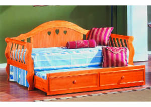 Image for Twin Trundle w/Wood Slats - Oak