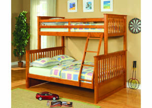 Image for Vermont Honey Oak Twin/Full Bunkbed