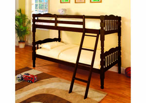 Image for Ponderosa Espresso Twin/Twin Spindle Bunkbed (10)/4520