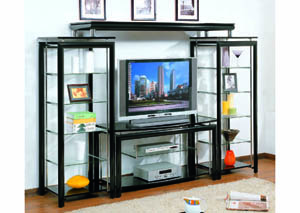 Image for Eclipse Chrome-Plated 4-Pc Entertainment Center