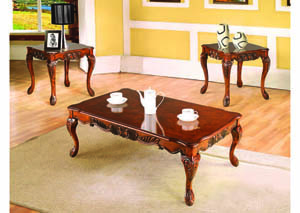 Image for Malaga Warm Cherry 3Pc Occasional Table Set