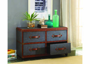 Image for Odyssey Charcoal/Brown PU Storage Trunk