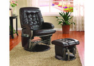 Image for Emissary Espresso Glider-Rocker w/Ottoman (2-Pc. Set)