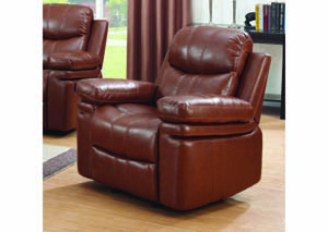 Image for Simba Bomber Brown Bonded Leather Rocking Recliner