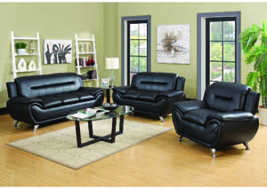 Image for Napoli Black Leather Match Chair