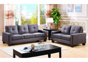 Image for Stanza 1 Charcoal Linen Sofa
