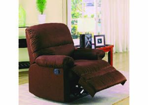 Image for Gambit Chocolate Micro-Suede Recliner