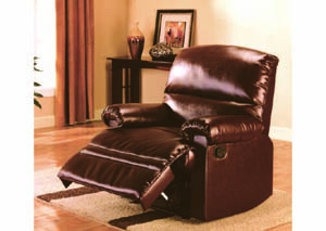 Image for Gambit Brown Leather Recliner