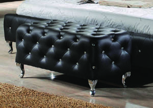 Image for Black Romeo Bedroom Bench