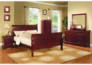 Image for Louisville Warm Cherry Queen Sleigh Bed