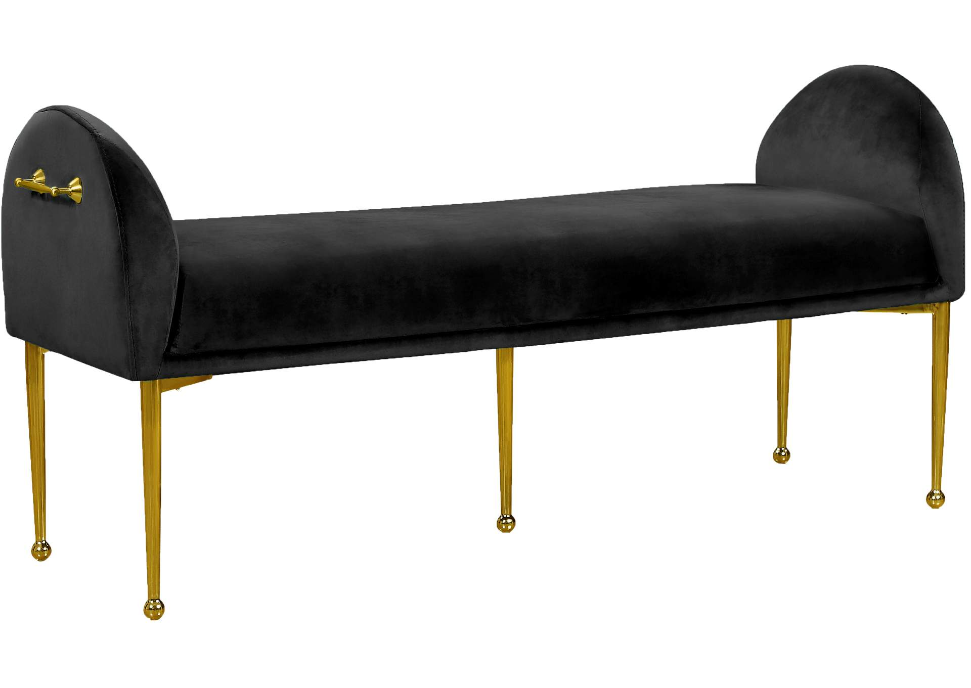 Owen Black Velvet Bench Best Buy Furniture And Mattress