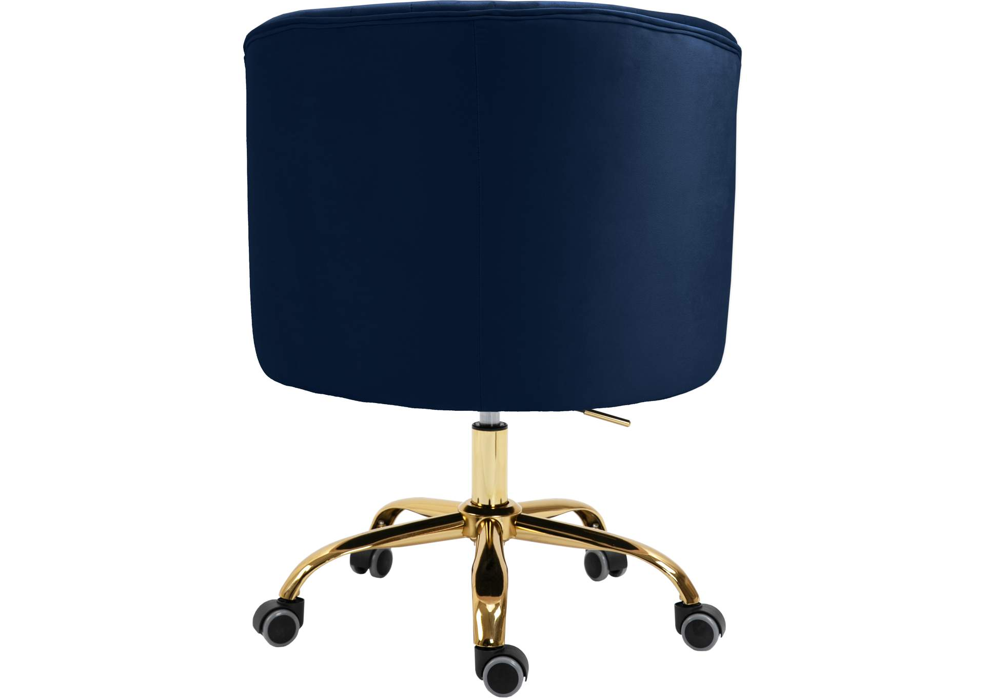 Arden Navy Velvet Office Chair,Meridian Furniture