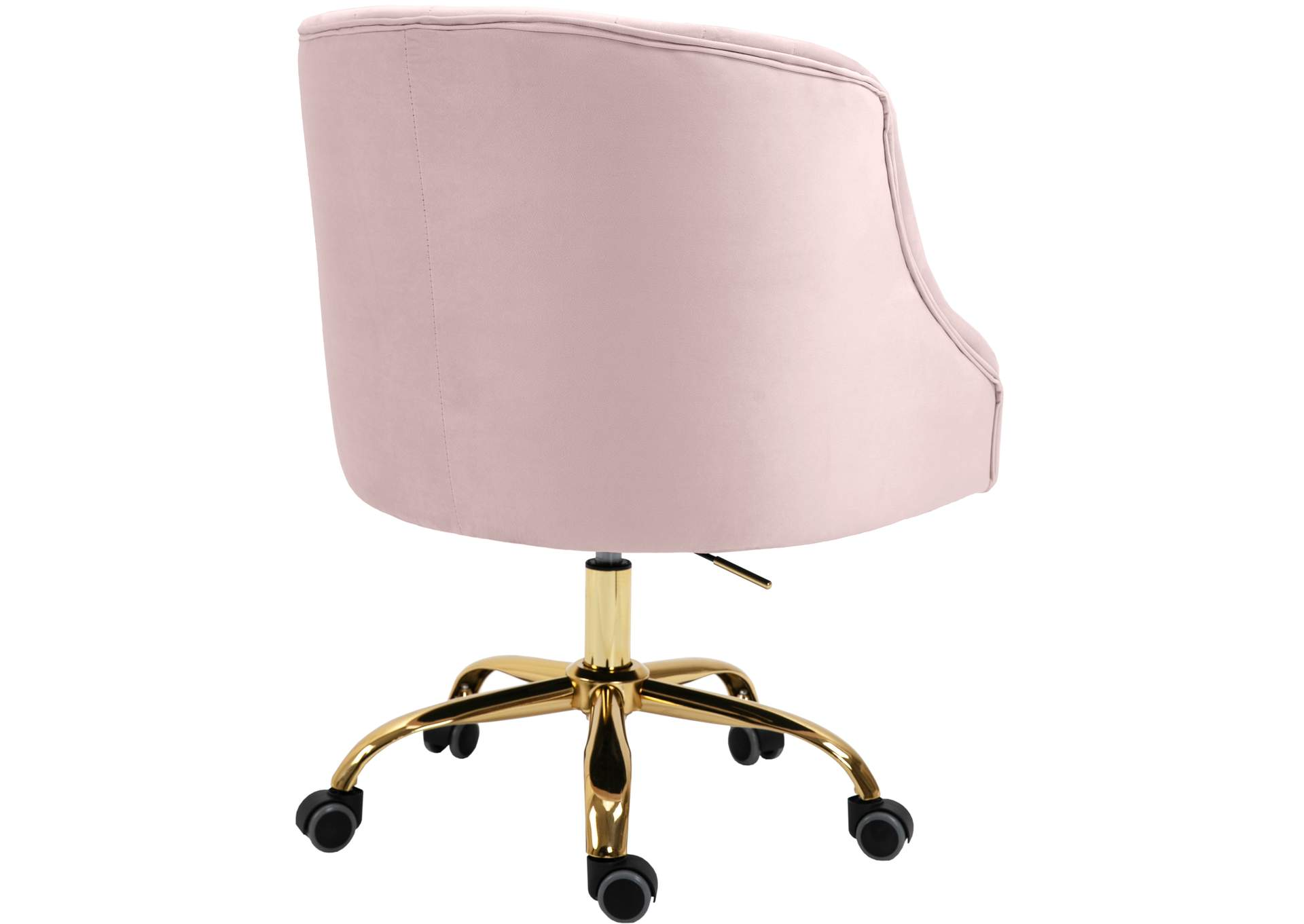 Arden Pink Velvet Office Chair,Meridian Furniture
