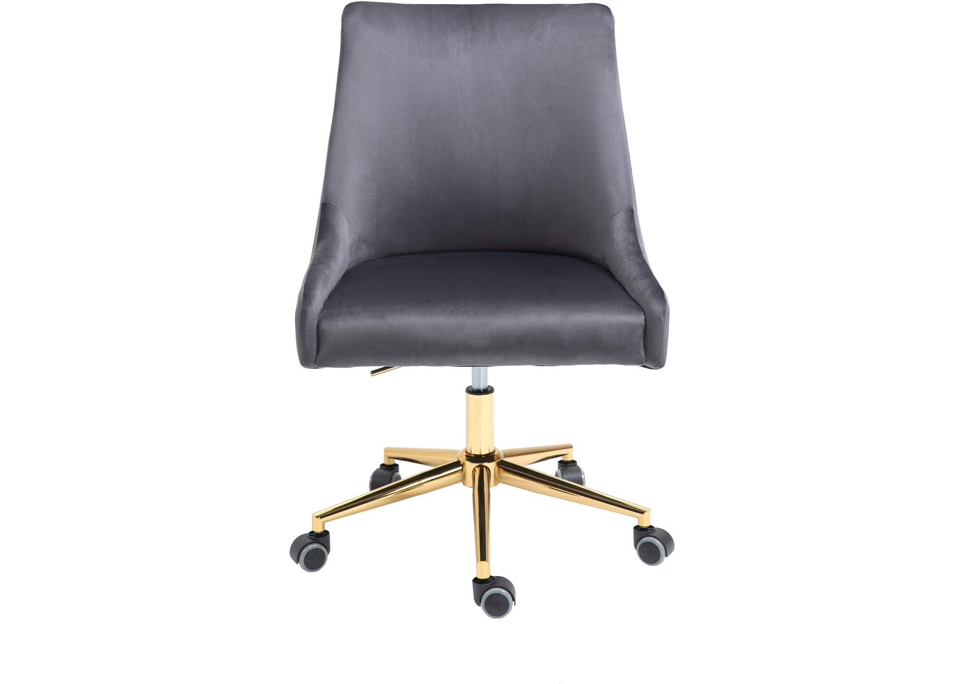Karina Grey Velvet Office Chair,Meridian Furniture
