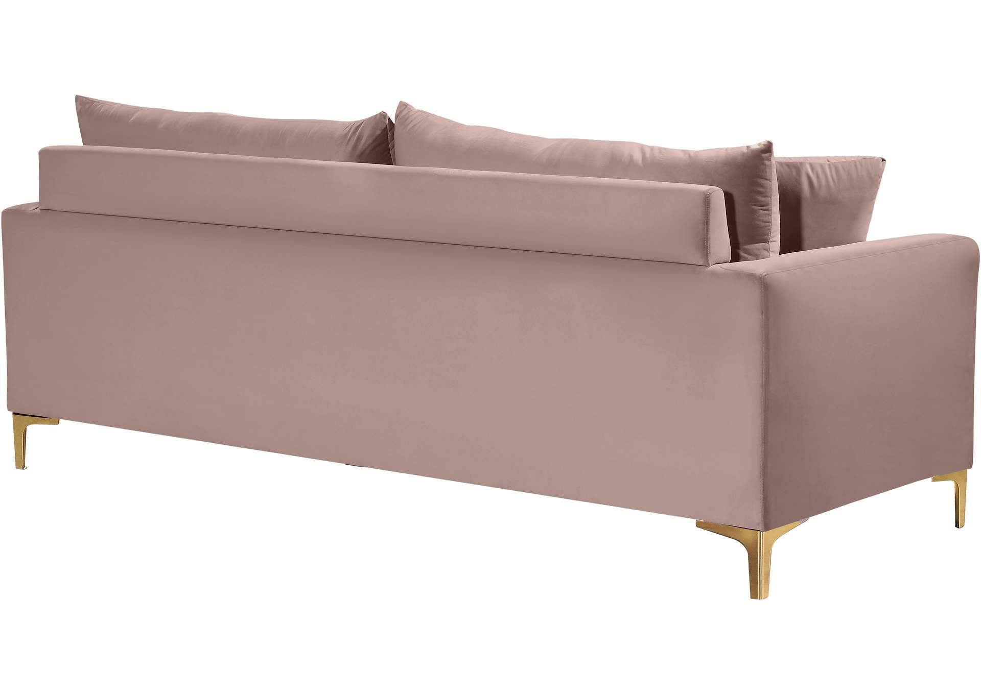 Naomi Pink Velvet Sofa Harlem Furniture