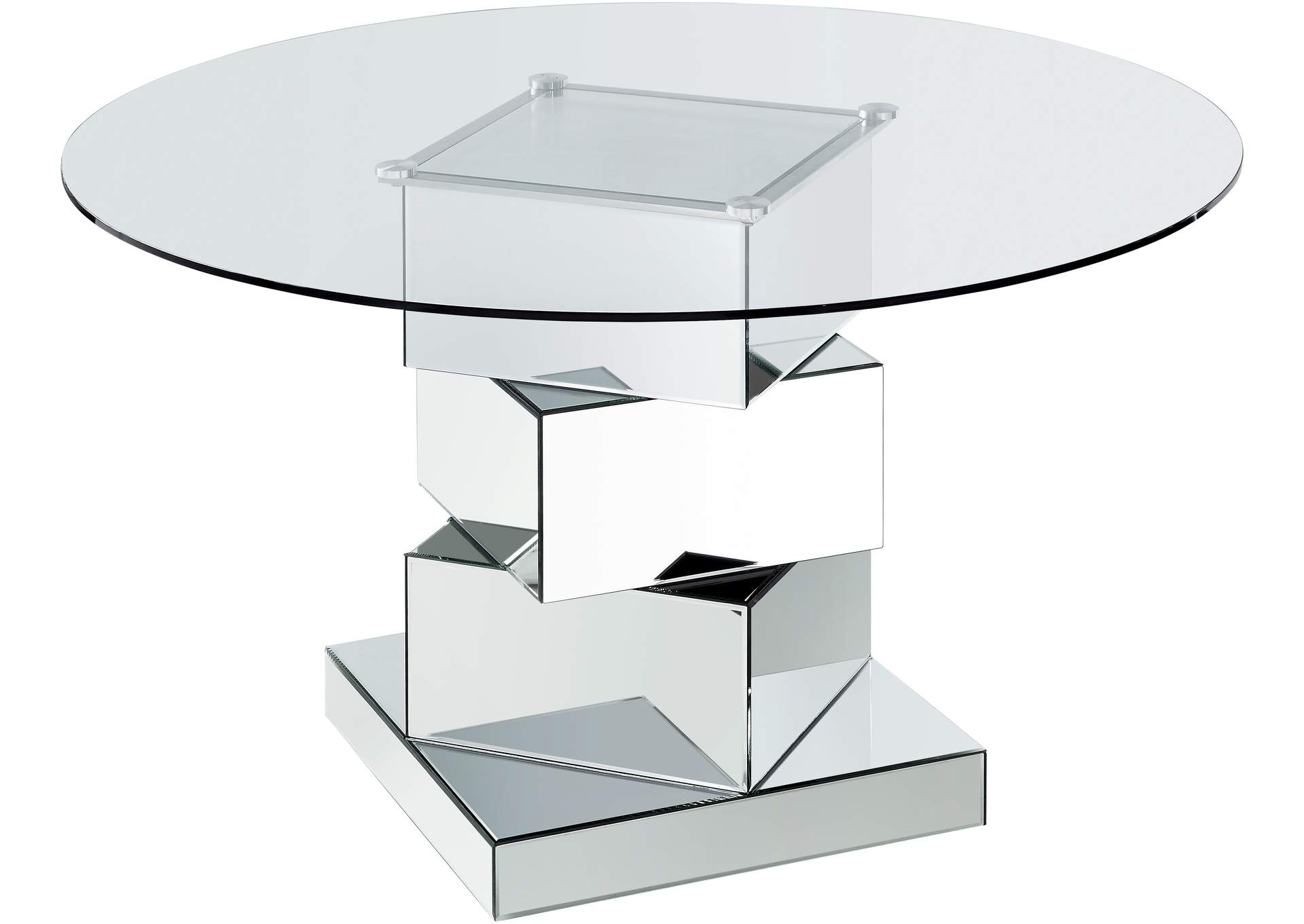 Haven Chrome Dining Table,Meridian Furniture