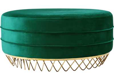 Image for Revolve Green Velvet Ottoman/Coffee Table